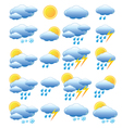 Meteorology set vector image vector image