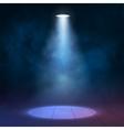 Lantern floodlight spotlight illuminates wooden vector image