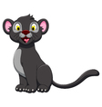 cute black panther posing vector image