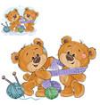 A brown teddy bear tie a vector image