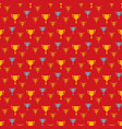 awards seamless pattern with winner cups vector image