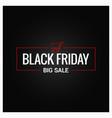 black friday logo design background vector image