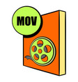 mov file icon cartoon vector image