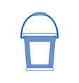 rubber bucket isolated vector image