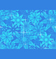 seamless pattern with transparent snowflakes and vector image