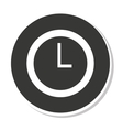 time clock design vector image