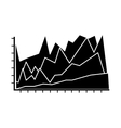 statistical graphic chart vector image