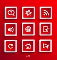 Set of flat paper icons vector image vector image