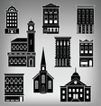 Main St Buildings vector image
