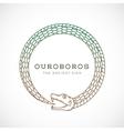 Abstract Ouroboros Snake Symbol Sign or a vector image