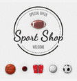 Sports shop insignia and labels for any use vector image