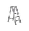 metallic ladder vector image