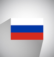 Flat Flag of Russia vector image vector image