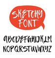 Brushy Font vector image