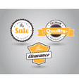 Set of colored badges with big sale sign vector image