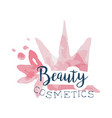 beauty cosmetics logo label for beauty studio vector image