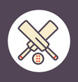 cricket icon with outline vector image