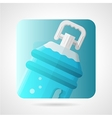 Flat stylish icon for bottled water vector image