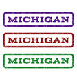 michigan watermark stamp vector image