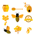 Set Honey badges and labels Abstract bee design vector image