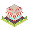 Sex Shop isometric icon vector image