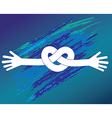 Knot of hands vector image vector image
