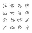 medical icons set hospital and er line icons vector image