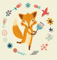 Cute foxy vector image