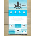 Seafood concept Web site design vector image