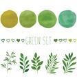Green set for design vector image