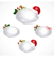 speech bubbles with christmas decoration vector image