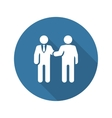 Handshake Icon Business Concept vector image