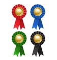 Set of award rosette vector image