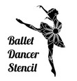 ballet dancer stencil vector image
