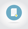 Document download icon vector image