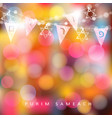 festive colorful greeting card invitation with vector image