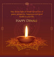 happt diwali wished greeting card design with vector image