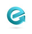 Letter E arrow logo icon design template elements vector image