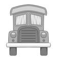 School bus icon gray monochrome style vector image