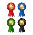 Set of award rosette vector image
