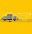solar eco energy banner horizontal concept vector image