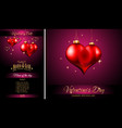 valentines day restaurant menu template background vector image