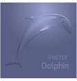 with stylized dolphin for your creativity vector image