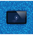 Digital tablet with shiny sensor screen with touch vector image