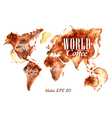 Traces Coffee World Map vector image