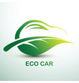 eco car vector image vector image
