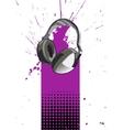 Headphone Poster vector image