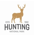 Deer hunters club label or logo template vector image