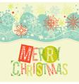 Merry Christmas lettering Christmas card pattern vector image