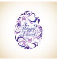 Easter egg decorated with ornament vector image vector image